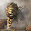 Lion Attack by Daniel Eskridge