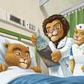 Lion Cub In Hospital by Martin Davey