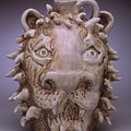Lion Face Jug by Stephen Hawks