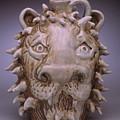 Lion Face Jug by Stephen Hawks