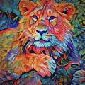 Lion In Burst by Yury Malkov