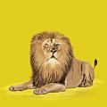 Lion Painting by Setsiri Silapasuwanchai