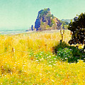 Lion Rock Painted Photo by Clive Littin