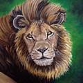 Lion by Art By Three Sarah Rebekah Rachel White