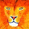 Lion Selfie Color Pop by Ken Figurski