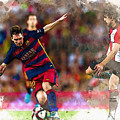 Lionel Messi  Fights For The Ball by Don Kuing