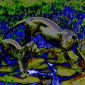 Lioness And Cub Abstract by Beth Akerman