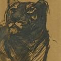 Lioness by Franz Marc