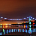 Lions Gate Bridge At Night 2 by Viktor Birkus