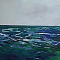 Liquid Blue No.4 by Jen Dacota