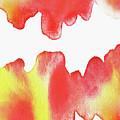 Liquid Fire Watercolor Abstract II by Irina Sztukowski