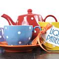 Liquid Patience Colorful Tea Set. by Milleflore Images