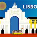 Lisboa Lisbon Portugal Horizontal Scene by Karen Young