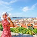 Lisbon Castle Woman by Benny Marty