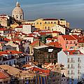 Lisbon Cityscape In Portugal At Sunset by Artur Bogacki