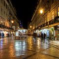 Lisbon Portugal Night Magic - Nighttime Shopping In Baixa Pombalina by Georgia Mizuleva