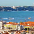 Lisbon Tagus River Skyline by Benny Marty
