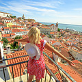 Lisbon Tourist Viewpoint by Benny Marty