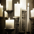 Lit Church Candles by Jacqui Hall
