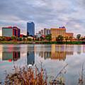Litle Rock Arkansas Skyline - Square by Gregory Ballos