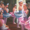 Little Ballerinas Backstage At The Recital by Diane Caudle