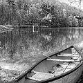 Little Bit Of Heaven Black And White Panorama by Debra and Dave Vanderlaan