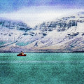 Little Boat In Reykjavik Bay by Frans Blok