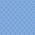 Little Boy Blue Quatrefoil by Ashley Wann