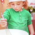 Little Boy Making Christmas Cookies by Anna Om