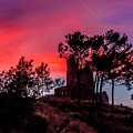 Little Chapel In Sunset by Wolfgang Stocker