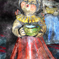 Little Christmas Angel-abstract by Patricia Motley