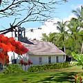 Little Church At Puako Big Island by Kurt Van Wagner