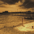 Little Girl By The Pier by Leigh Kemp