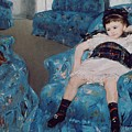 Little Girl In A Blue Armchair by Mary Stevenson Cassatt