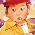 Little Girl In Red Hat by Judy Swerlick