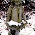 Little Girl Sculpture In The Snow by Diana Davenport