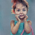 Little Girl With Purse by Scott Bowlinger