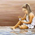 Little Girl With Sea Shell by Natalia Tejera