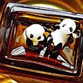 Little Glass Pandas 43 by Sarah Loft