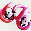 Little Glass Pandas 44 by Sarah Loft
