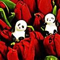 Little Glass Pandas 80 by Sarah Loft