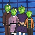 Little Green Apple Head Kids by JoLynn Potocki