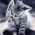 Little Grey Cat by Suzann Sines