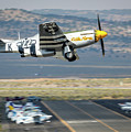 P51 Mustang Little Horse Gear Coming Up Friday At Reno Air Races 5x7 Aspect by John King
