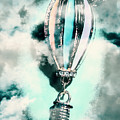 Little Hot Air Balloon Pendant And Clouds by Jorgo Photography - Wall Art Gallery