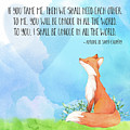 Little Prince Fox Quote, Text Art by Tina Lavoie