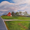 Little Red Barn On Detrick Rd by Gloria Condon