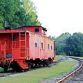 Little Red Caboose Enhanced by Suzanne Gaff