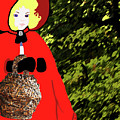 Little Red Riding Hood In The Forest by Marian Cates