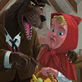 Little Red Riding Hood With Nasty Wolf by Martin Davey